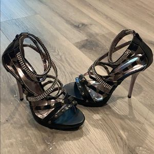 Sexy studded rhinestone heels